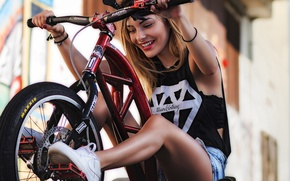 Картинка girl, bike, fun