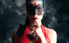 Картинка девушка, украшения, маска, Глория