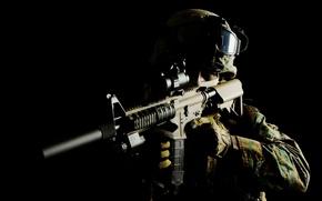 Картинка оружие, солдат, автомат