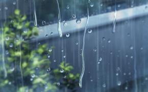 Обои wallpaper, anime, rain, дождь