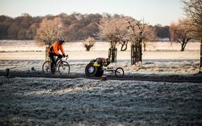 Обои мужчины, Паралимпийских велосипедов, инвалидной коляске, путь
