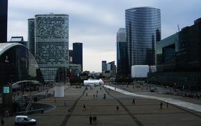 Обои париж, здания, люди, франция
