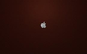 Обои кожа, Apple, бардовый