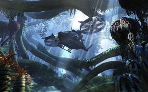 Картинка лес, игра, вертолёт, аватар, avatar