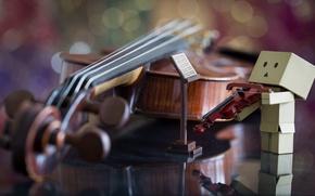 Картинка ноты, скрипка, Danbo, скрипач