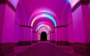 Картинка свет, краски, арка, аркада