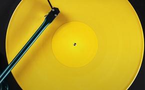 Картинка жёлтый, Moto E, патифонная пластинка, патифон