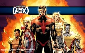 Картинка мутанты, комикс, супергерои, colossus, cyclops, emma frost, Avengers vs X-Men, Люди Икс