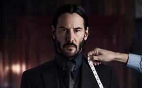 Обои костюм, боевик, Keanu Reeves, пиджак, John Wick: Chapter Two, Джон Уик 2, Киану Ривз, метр, ...