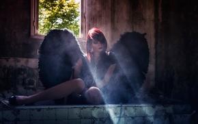 Картинка ангел, цепь, разруха, Dark Angel, Eric Bayard