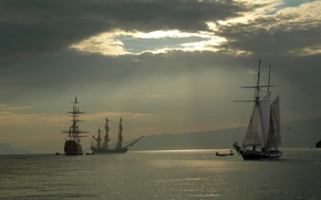 Обои Небо, Вода, яхта, Парусники