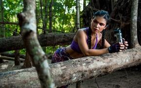 Картинка девушка, природа, лицо, стиль, фигура, спортивная, передышка, Luz