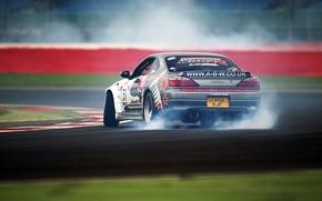 Картинка Silvia, Nissan, Drift, Race, Smoke, Tuning, Road