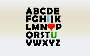 Картинка любовь, буквы, сердце, alphabet, Алфавит