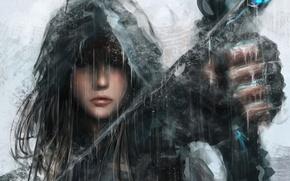 Картинка фентези, Девушка, воин, лук, арт, стрелы