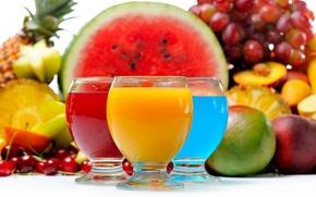 Обои сок, fruits, juice, cocktail, коктейль, ягоды, berries, фрукты