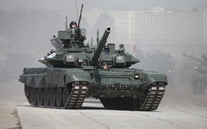 Картинка дорога, танк, Т-90, ВС России, танкисты, бетонка