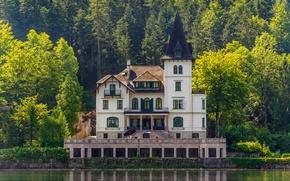 Картинка озеро, Замок, архитектура, lake, castle, architecture