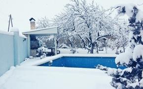 Картинка зима, снег, белое