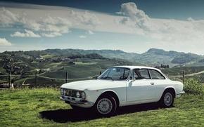 Картинка Белый, Ретро, Alfa Romeo, Classic, Альфа Ромео, Giulia