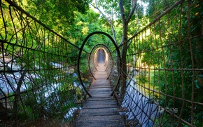 Картинка мост, ЮАР, South Africa, Sway bridge, Lost City, подвесной, North West Province