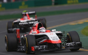 Картинка Formula 1, Marussia, Jules Bianchi, MR03, Max Chilton