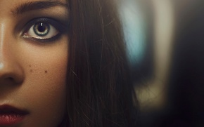 Картинка взгляд, портрет, макияж