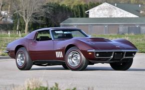 Обои chevrolet, corvette, stingray, l88 427 coupe, c3, 1969, chevy