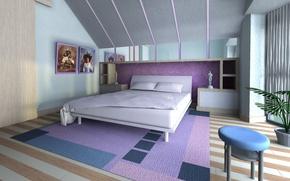 Картинка дизайн, дом, стиль, интерьер, спальня, жилая комната