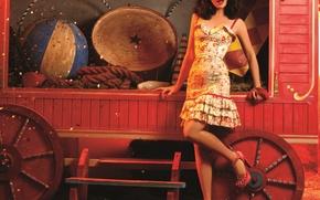 Картинка девушка, платье, цирк, Natalia Oreiro