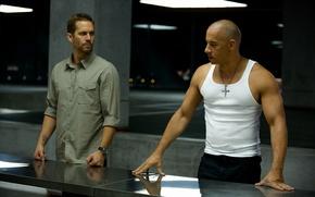 Картинка Вин Дизель, Пол Уокер, Vin Diesel, Paul Walker, Dominic Toretto, Brian O'Conner, The Fast and ...