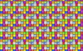 Обои мозаика, стекло, цветные квадраты, фон, плитка, решётка, блеск, текстуры