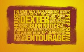 Обои стиль, lie to me, the walking dead, the office, blackadder, man vs. wild, extras, сериалы, ...
