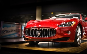 Картинка авто, Maserati, Машины, черная