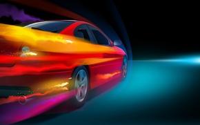Картинка свет, купе, скорость, поток, воздух, автомобиль, Pontiac, GTO