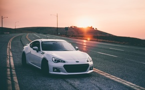 Картинка car, авто, road, субару, subaru brz