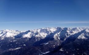 Обои небо, горы
