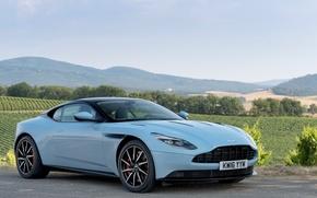 Картинка car, небо, асфальт, Aston Martin, автомобиль, sky, wallpapers, DB11
