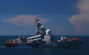 Картинка корабль, ракетный, Черное море, Р-239