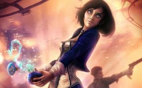 Картинка платье, BioShock, Elizabeth, bioshock infinite, Booker DeWitt, salts, vigor, fan art девушка