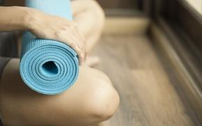 Картинка pose, knees, mat exercises