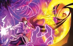 Картинка game, naruto, anime, boy, fight, battle, ninja, uchiha sasuke, uchiha, manga, shinobi, uzumaki naruto, japanese, …