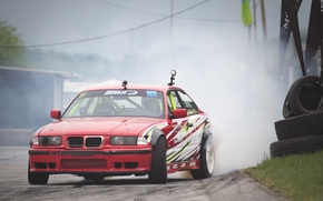 Картинка car, BMW, drift, smoke, photo, race, burnout, e36, MMaglica photo, MMaglica, tire, Poljak, burn