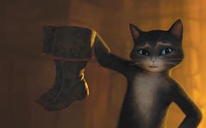 Обои Сальма Хайек, Salma Hayek, Puss in Boots, Кот в сапогах, Kitty Softpaws