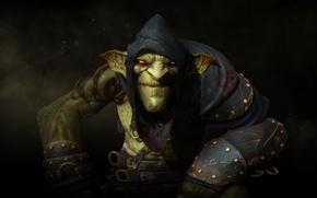 Обои тату, капюшон, зелёный, броня, Гоблин, Мастер теней, Cyanide Studio, Focus Home Interactive, Styx: Master of ...