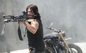 Картинка арбалет, The Walking Dead, Ходячие мертвецы, Норман Ридус, Дэрил