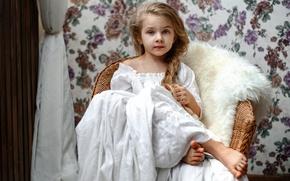 Картинка девочка, коса, Лиза