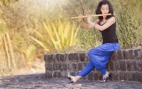 Картинка Model, flute, Anupama Negi Anee