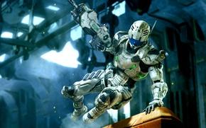 Картинка Vanquish, Platinum Games, Синдзи Миками, Сэм Гидеон, уникальный боевой костюм.