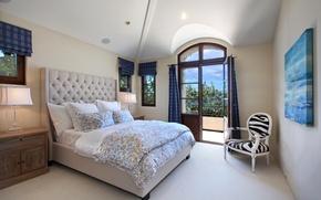 Картинка дизайн, вилла, кровать, Design, спальня, Interior, Bedroom